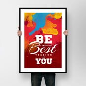 ПОСТЕР 'BE THE BEST VERSION OF YOU'